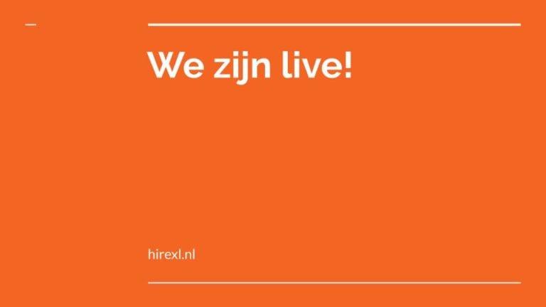 We zijn live